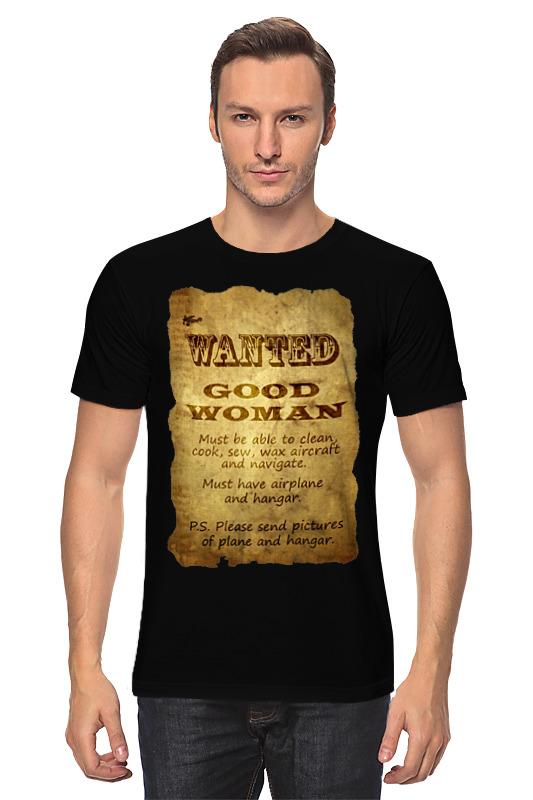 Футболка классическая Printio Wanted good woman футболка классическая printio good night