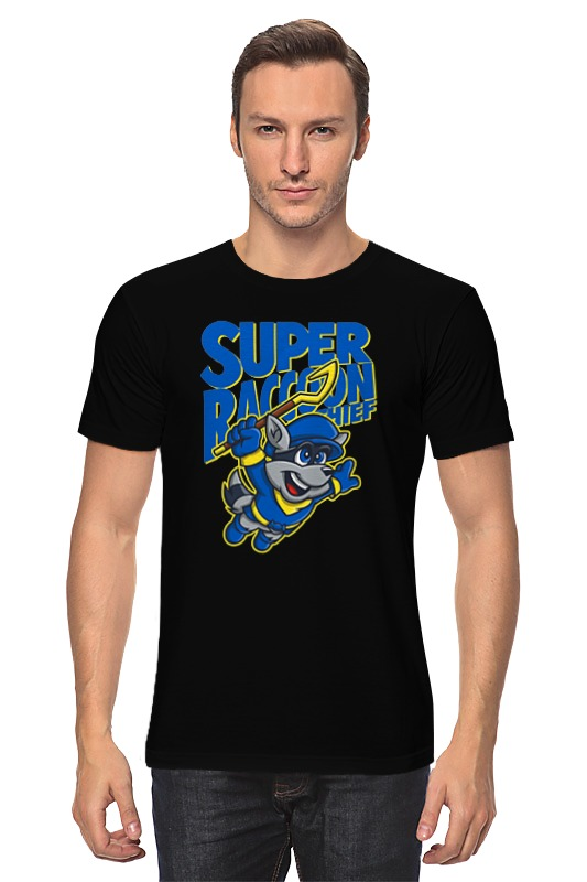 Футболка классическая Printio Енот (sly cooper) футболка wearcraft premium slim fit printio енот sly cooper