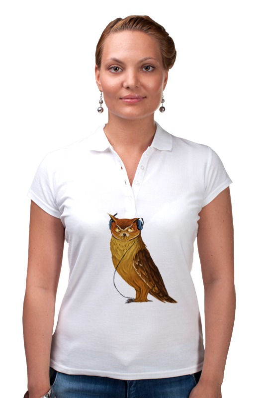 Рубашка Поло Printio Сова в наушниках конверт средний с5 printio сова в наушниках