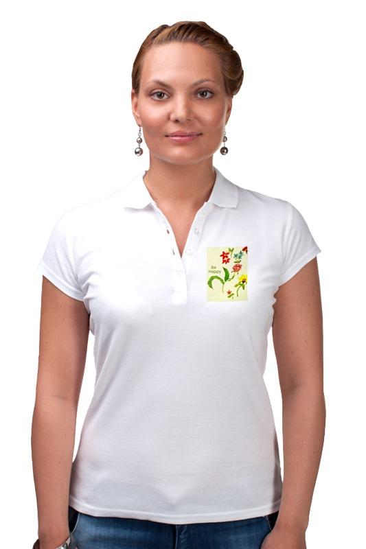 Рубашка Поло Printio Цветы тропиков