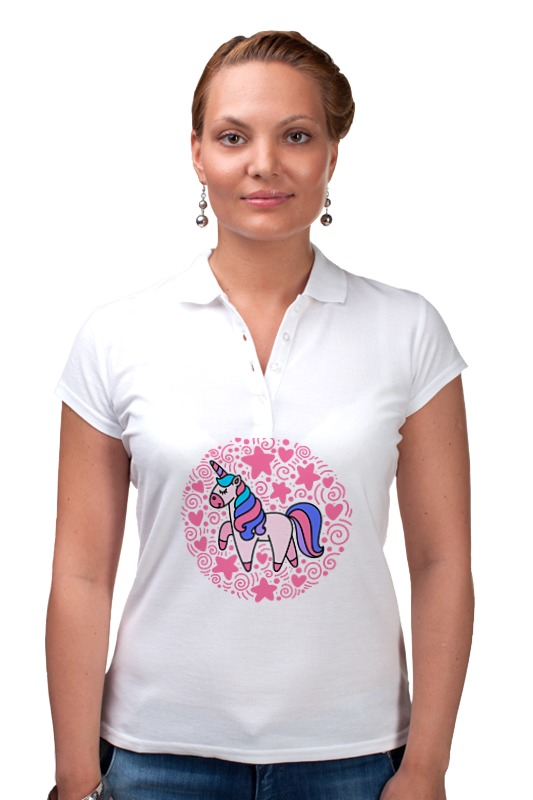 Рубашка Поло Printio Unicorn рубашка поло printio николай гоголь портрет работы фёдора моллера