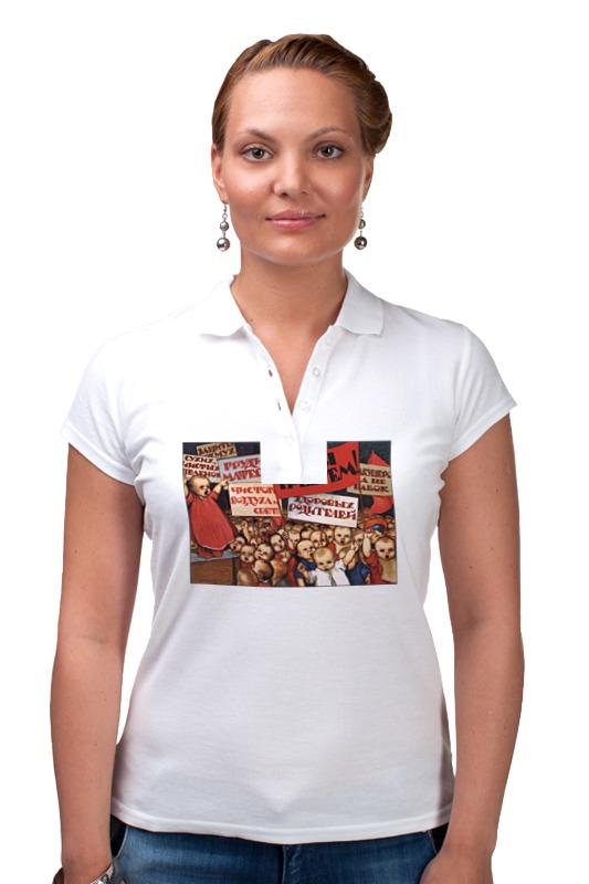 Рубашка Поло Printio Советский плакат, 1923 г. (а. комаров) тетрадь на скрепке printio советский плакат 1923 г