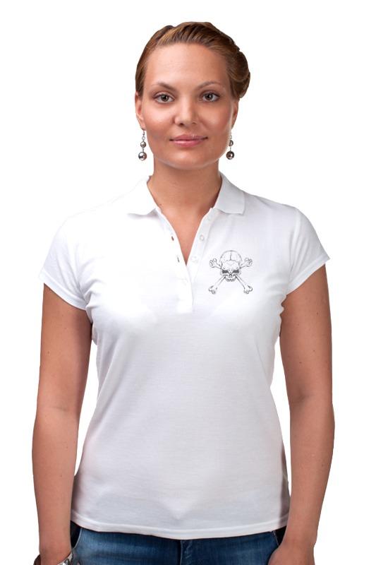 Рубашка Поло Printio Череп с костями кинг с мешок с костями