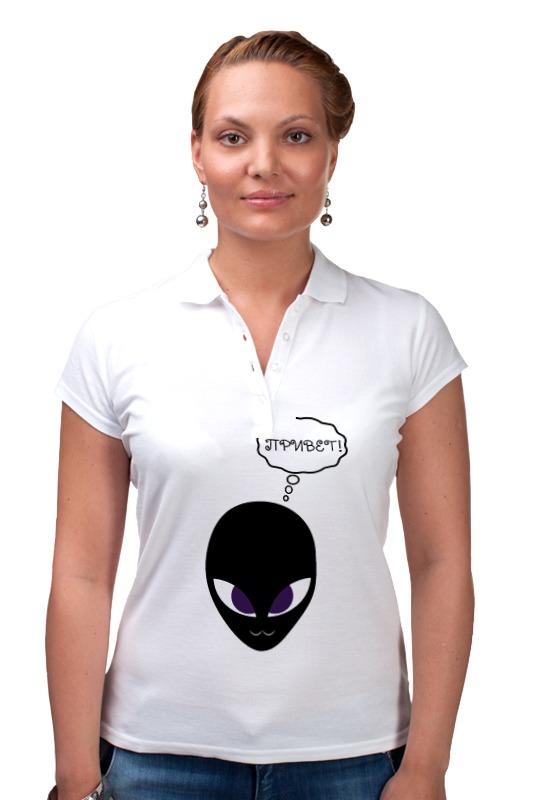 Рубашка Поло Printio Дружелюбный пришелец