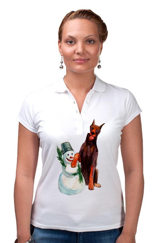 Рубашка Поло Printio Забавная акварельная собака, символ 2018 года футболка классическая printio акварельная новогодняя забавная собака