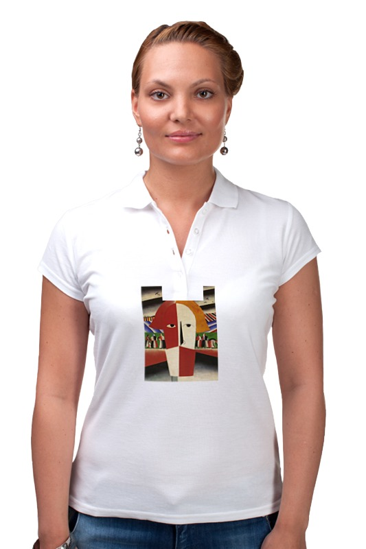 Рубашка Поло Printio Голова крестьянина (казимир малевич)