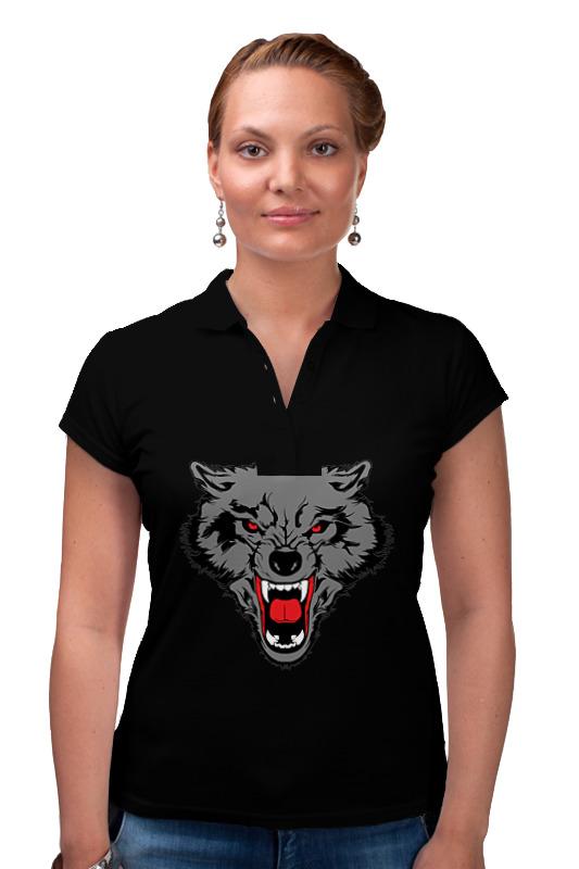 Рубашка Поло Printio  женское волк