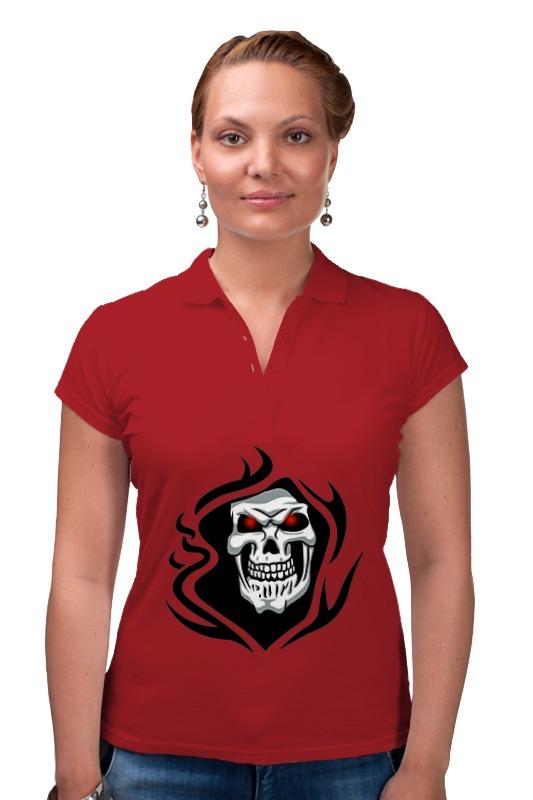 Рубашка Поло Printio Череп поло print bar черепа с бантиками