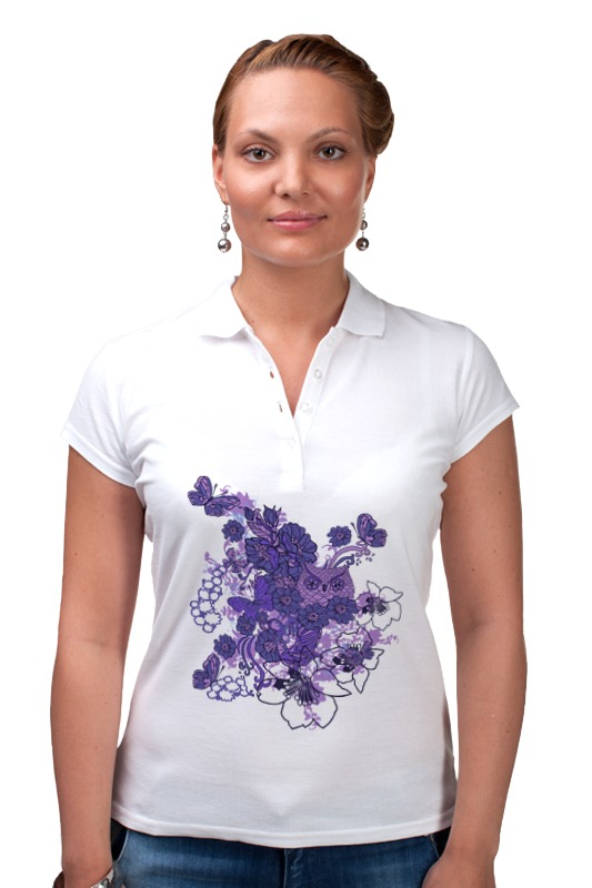 Рубашка Поло Printio Сова в цветах