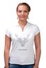 """Рубашка Поло """"Dear Deer"""" - рисунок, дизайн, олень, минимализм, рога"""