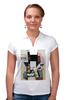 """Рубашка Поло """"Композиция с Джокондой (Казимир Малевич)"""" - картина, живопись, мона лиза, малевич"""