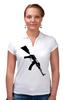 """Рубашка Поло """"АК-45"""" - в подарок, калашников, поло, женская одежда, рубашка"""