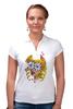 """Рубашка Поло """"Без ума от цветов"""" - любовь, девушка, цветы, сердца, блондинка"""