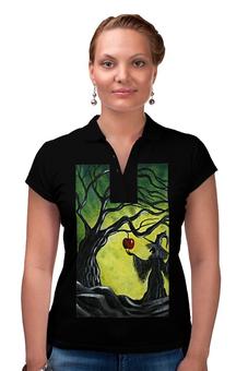 """Рубашка Поло """"Заколдованное яблоко"""" - сказка, яблоко, колдунья, майка для девушки, сувенир ко дню всех влюблённых"""