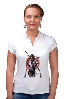 "Рубашка Поло ""Лара Крофт"" - девушка, tomb raider, лара крофт, расхитительница гробниц, томб райдер"