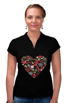 """Рубашка Поло """"Валентинка"""" - сердце, любовь, губы, валентинка"""
