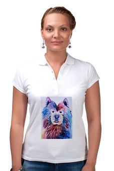 """Рубашка Поло """"Cute dog """" - животные, стиль, мода, акварель, собаки"""