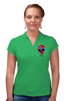 "Рубашка Поло ""Флаг конфедерации США"" - череп, война, америка, флаг, флаг конфедерации"
