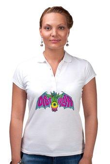 """Рубашка Поло """"Disturbia"""" - арт, ужасы, летучая мышь, disturbia, паранойя"""