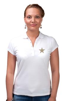 """Рубашка Поло (Женская) """"Звезда"""" - star, стиль, мода, в полоску, полоски"""