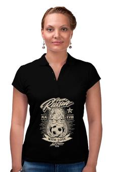 """Рубашка Поло """"Футбол"""" - футбол, спорт, матрёшка"""