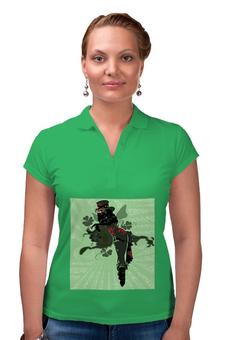 """Рубашка Поло """"Ядовитый плющ"""" - череп, девушка, ядовитый плющ, трелистники, негритянка"""