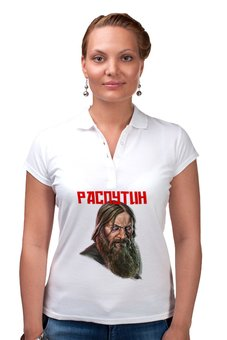 """Рубашка Поло """"Распутин"""" - россия, история, распутин, rasputin, целитель"""