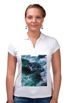 """Рубашка Поло """"Бескрайнее море"""" - лето, happy, море, тепло, бриз"""