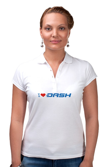 """Рубашка Поло """"I love dash"""" - dash, bitcoin, криптовалюта, etherium, даш"""