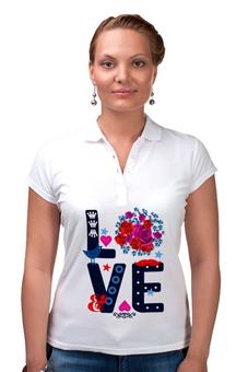 """Рубашка Поло """"Любовь"""" - любовь, цветы"""