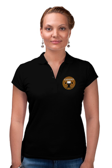 """Рубашка Поло (Женская) """"Не напрягайся!"""" - йога, вольт, напряжение, электрик, вольтметр"""