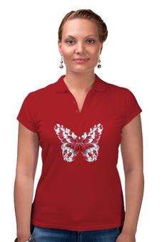 "Рубашка Поло ""Бабочка"" - бабочка"