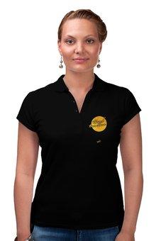 """Рубашка Поло """"Центр Внимания - Ego Sun"""" - золото, солнце, леттеринг, эго, престиж"""