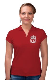 "Рубашка Поло ""Ливерпуль "" - футбол, ливерпуль, liverpool, футбольный клуб, you ll never walk alone"