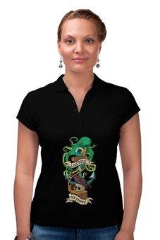 """Рубашка Поло """"Осьминог"""" - череп, якорь, old school, татуировка, пират"""