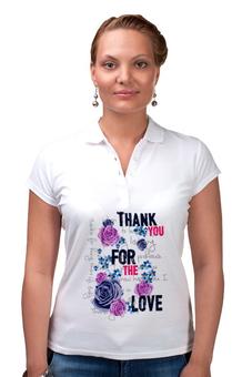 """Рубашка Поло """" Любовь"""" - любовь, цветы"""
