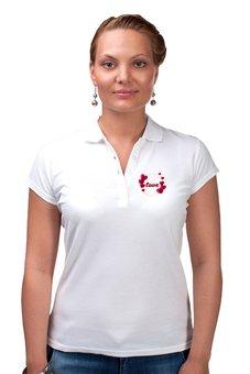 """Рубашка Поло """"Любовная надпись."""" - сердце, любовь, девушка, настроение, чувства"""
