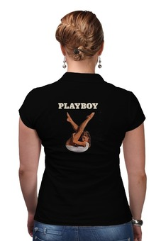 """Рубашка Поло (Женская) """"Playboy Девушка"""" - девушка, playboy, плейбой, плэйбой"""