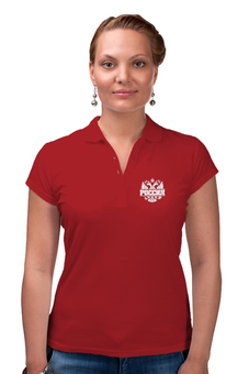 """Рубашка Поло """"Россия"""" - патриот, россия, герб россии, russia, двуглавый орёл"""