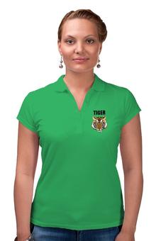 "Рубашка Поло ""Взгляд тигра"" - рисунок, взгляд, тигр, джунгли"