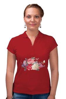 """Рубашка Поло """"Летние цветы"""" - лето, цветы"""