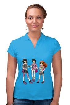 """Рубашка Поло """"Школьницы"""" - девочки, школа, школьницы"""