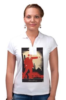 """Рубашка Поло """"Советский плакат, 1924 г."""" - ссср, ленин, плакат, коммунизм"""