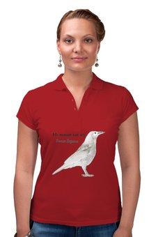 "Рубашка Поло ""Белая ворона"" - животные, природа"