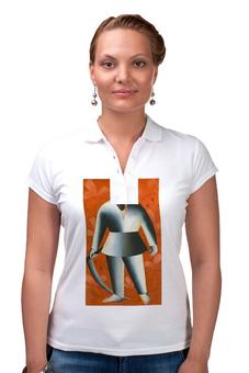 "Рубашка Поло ""Косарь (Казимир Малевич)"" - картина, живопись, малевич"