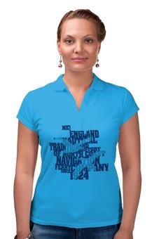 """Рубашка Поло """"Морская абстракция"""" - надпись, чайки, на море"""