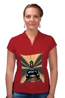 "Рубашка Поло ""Светофор."" - дорога, светофор, автомобили"