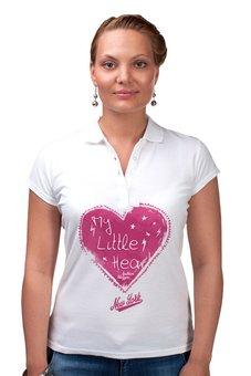 """Рубашка Поло """"My Little Hear"""" - сердце, любовь, heart, new york, 14 февраля"""