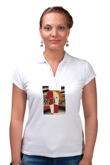 """Рубашка Поло """"Голова крестьянина (Казимир Малевич)"""" - картина, живопись, малевич"""