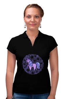 "Рубашка Поло ""Unicorn"" - сердце, узор, звезды, орнамент, единорог"
